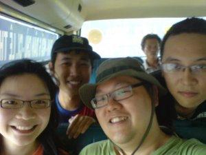 A photo memory on the bus with our new found friends