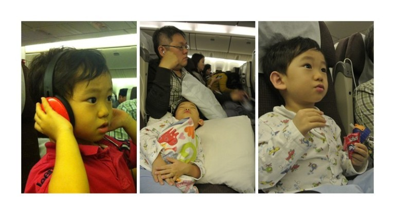Life on board a plane for Jaydon